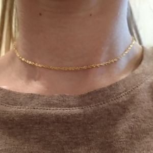 "14-15"" Sterling silver, gold plated chain necklace"